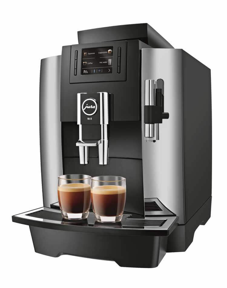 JURA WE8 espressomachine zijkant